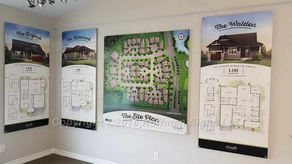 Model Home information signs and Site Map