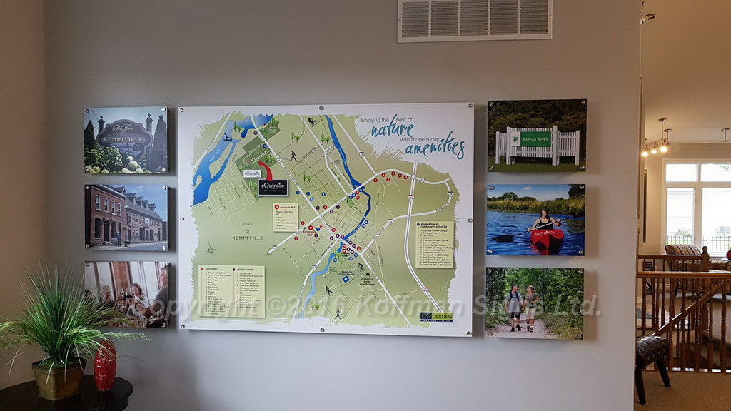Community area photographs and Site Map