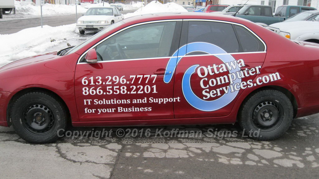 Ottawa Computer Services - Vinyl Logo and Lettering
