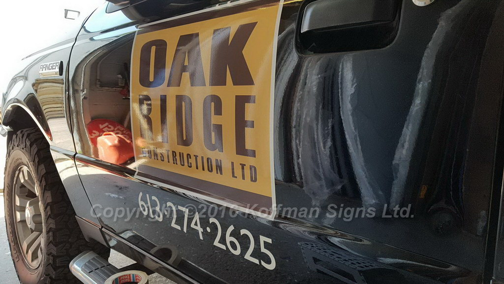 Oak Ridge Construction - Vinyl Logo and Lettering